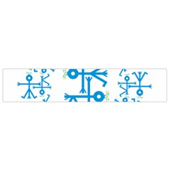 Blue Birds And Olive Branch Circle Icon Flano Scarf (Small)