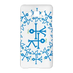 Blue Birds And Olive Branch Circle Icon Samsung Galaxy A5 Hardshell Case