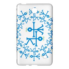Blue Birds And Olive Branch Circle Icon Samsung Galaxy Tab 4 (7 ) Hardshell Case