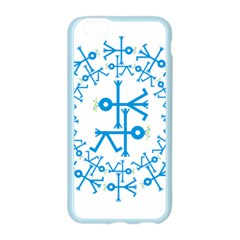 Blue Birds And Olive Branch Circle Icon Apple Seamless iPhone 6/6S Case (Color)