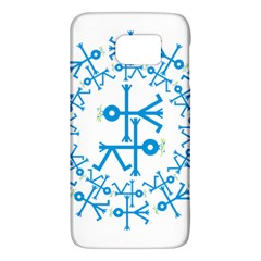 Blue Birds And Olive Branch Circle Icon Galaxy S6