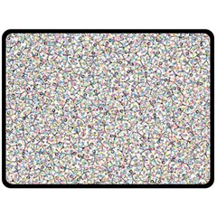 Crowd Icon Random Cmyk Fleece Blanket (Large)