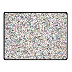 Crowd Icon Random Cmyk Fleece Blanket (Small)