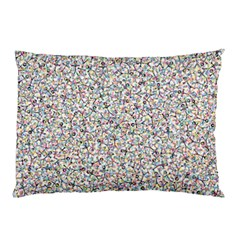 Crowd Icon Random Cmyk Pillow Cases (Two Sides)