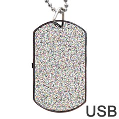 Crowd Icon Random Cmyk Dog Tag Usb Flash (one Side)