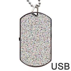 Crowd Icon Random Cmyk Dog Tag USB Flash (Two Sides)