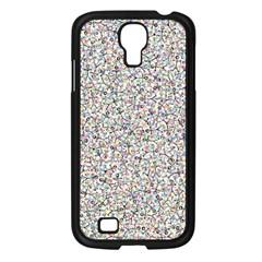 Crowd Icon Random Cmyk Samsung Galaxy S4 I9500/ I9505 Case (Black)