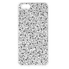 Crowd Icon Random Apple iPhone 5 Seamless Case (White)