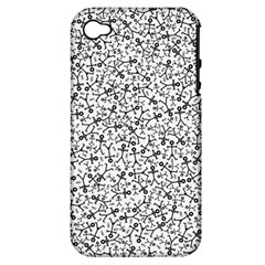 Crowd Icon Random Apple iPhone 4/4S Hardshell Case (PC+Silicone)