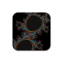Dream in Fract Rubber Square Coaster (4 pack)