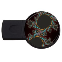 Dream in Fract USB Flash Drive Round (1 GB)