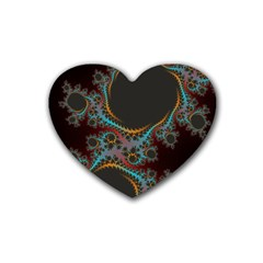 Dream In Fract Rubber Coaster (heart)