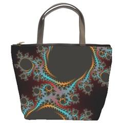 Dream in Fract Bucket Bags