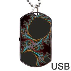 Dream in Fract Dog Tag USB Flash (Two Sides)