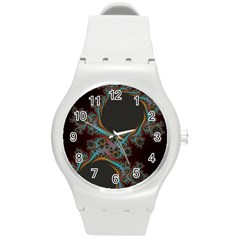 Dream in Fract Round Plastic Sport Watch (M)