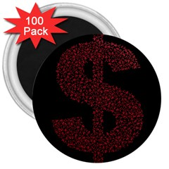 Dollar People Icon 3  Magnets (100 pack)
