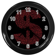 Dollar People Icon Wall Clocks (Black)