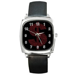 Dollar People Icon Square Metal Watches
