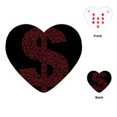 Dollar People Icon Playing Cards (Heart)