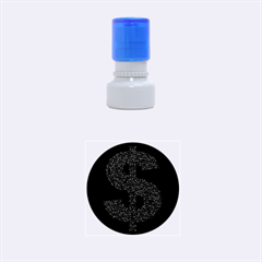 Dollar People Icon Rubber Round Stamps (Small)