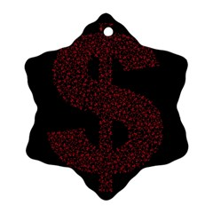 Dollar People Icon Snowflake Ornament (2-Side)