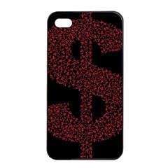 Dollar People Icon Apple iPhone 4/4s Seamless Case (Black)