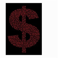 Dollar People Icon Small Garden Flag (Two Sides)