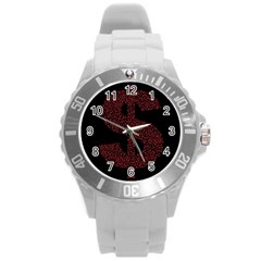 Dollar People Icon Round Plastic Sport Watch (L)