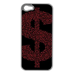 Dollar People Icon Apple iPhone 5 Case (Silver)