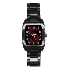 Dollar People Icon Stainless Steel Barrel Watch