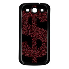 Dollar People Icon Samsung Galaxy S3 Back Case (Black)