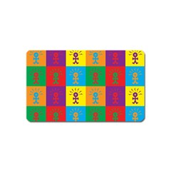 Multi Coloured Lots Of Angry Babies Icon Magnet (Name Card)