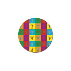 Multi Coloured Lots Of Angry Babies Icon Golf Ball Marker (4 pack)