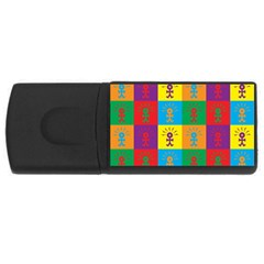 Multi Coloured Lots Of Angry Babies Icon USB Flash Drive Rectangular (1 GB)