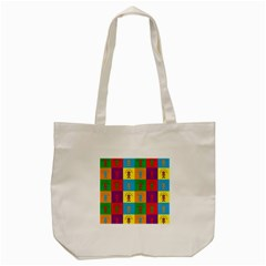 Multi Coloured Lots Of Angry Babies Icon Tote Bag (Cream)