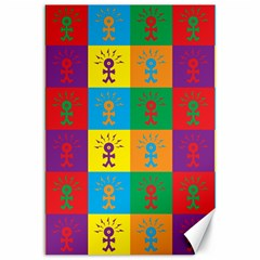 Multi Coloured Lots Of Angry Babies Icon Canvas 12  x 18