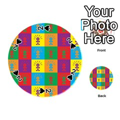 Multi Coloured Lots Of Angry Babies Icon Playing Cards 54 (round)