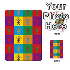 Multi Coloured Lots Of Angry Babies Icon Multi-purpose Cards (Rectangle)