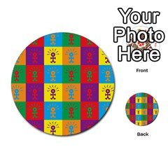 Multi Coloured Lots Of Angry Babies Icon Multi-purpose Cards (Round)