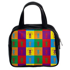 Multi Coloured Lots Of Angry Babies Icon Classic Handbags (2 Sides)