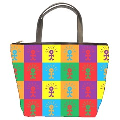 Multi Coloured Lots Of Angry Babies Icon Bucket Bags