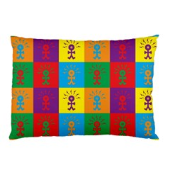 Multi Coloured Lots Of Angry Babies Icon Pillow Cases