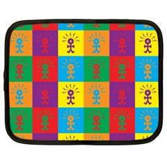Multi Coloured Lots Of Angry Babies Icon Netbook Case (XL)