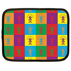 Multi Coloured Lots Of Angry Babies Icon Netbook Case (XXL)