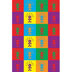 Multi Coloured Lots Of Angry Babies Icon 5.5  x 8.5  Notebooks