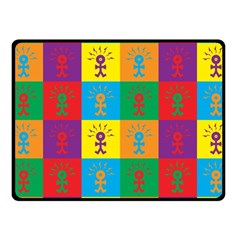 Multi Coloured Lots Of Angry Babies Icon Fleece Blanket (Small)