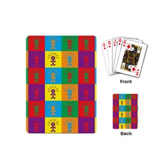 Multi Coloured Lots Of Angry Babies Icon Playing Cards (Mini)