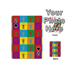 Multi Coloured Lots Of Angry Babies Icon Playing Cards 54 (Mini)