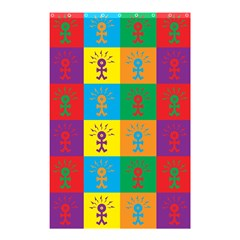 Multi Coloured Lots Of Angry Babies Icon Shower Curtain 48  x 72  (Small)