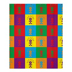 Multi Coloured Lots Of Angry Babies Icon Shower Curtain 60  X 72  (medium)